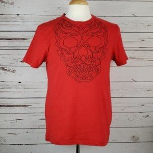 Skull Embroidered Graphic Tshirt by Guess